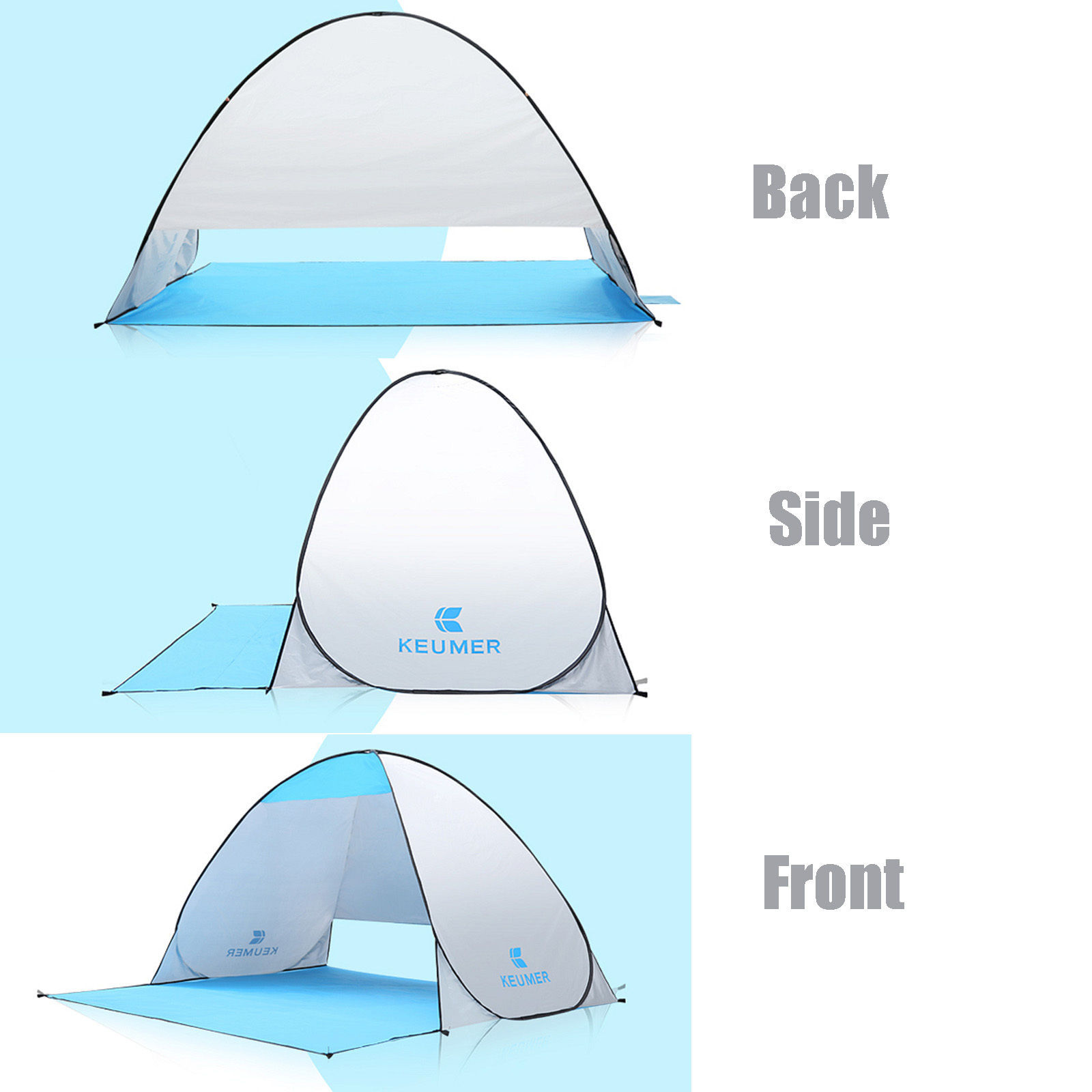 Keumer Beach Tent Sun Shelter Portable Pop Up Shade