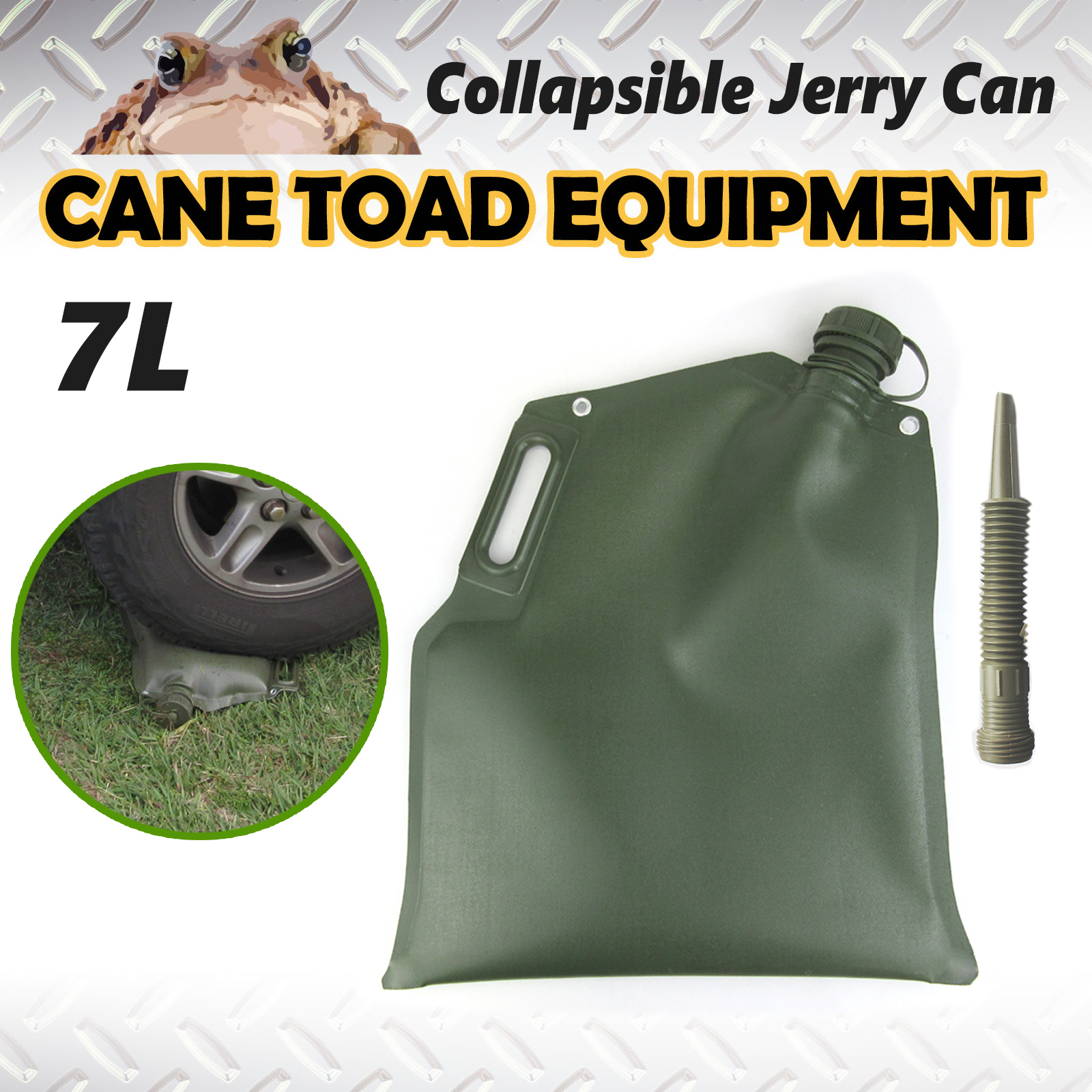 7l Collapsible Jerry Can Fuel Bladder Petrol Diesel Water