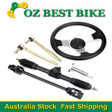 GO KART GO CART 110-140cc Steering Wheel Tie Rod Rack Adjustable Shaft Package