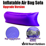 Upgraded Fast Inflatable Air Bag Sofa Lounge Laybag Camping Bed Beach Hangout