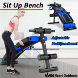 Sit Up Abdominal Bench Adjustable Press Weight Gym Exercise Fitness Decline
