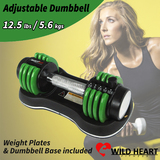Adjustable Dumbbell Weight Set 12.5 lbs 5.6 kgs Home Gym Fitness Power Exercise Equipment