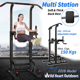 Knee Raise Power Tower Chin Up Push Pull Dip Fitness Station Exercise Home Gym