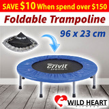 Mini Trampoline w/ Padding Cove Fitness Rebounder Jogger Home Gym Exercise