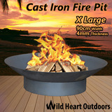 Fire Pit Patio Heater 90cm New Open Fireplace Large Firepit Garden Plant Bowl Outdoor Portable BBQ Water Bowl Coal Wood Fireplace