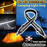 LED CAMPING LIGHT Dual Colour 12V 1.3M FLEXIBLE Dimmer 5050 SMD CARAVAN BOAT WATERPROOF BAR STRIP