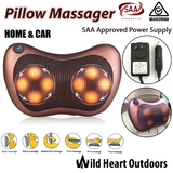 Shiatsu Massage Pillow Massager Home & Car Chushion Neck Back Shoulder Body Knead Rotating