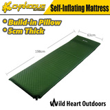 5cm Self-inflating Mattress Sleeping Mat Camping Hiking GREEN