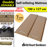 UPGRADED 2x7cm SELF INFLATING MATTRESS Thick Suede Inflatable Camping Outdoor