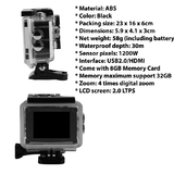 Mini Wifi Sport Action Cam Waterproof SJ4000 2MP 1080P 32GB