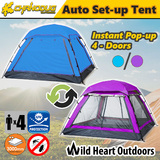4 Person AUTO Tent Instant Set up Waterproof Family Camping Hiking Beach