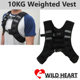 10KG WEIGHTED WEIGHT VEST ADJUSTABLE Size CROSSFIT MMA STRENGTH TRAINING RUNNING GYM