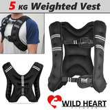 5KG WEIGHT VEST ADJUSTABLE SZ WEIGHTED CROSSFIT MMA STRENGTH TRAINING RUNNING GYM WEIGHTED