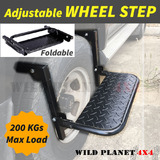Wheel Step Tyre Ladder Lift Stair Foldable Van Truck 4WD 4X4 Adjustable Car