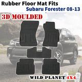 Rubber Floor Mats Fits Subaru Forester 08-13 1st&2nd Row 3D Moulded