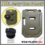 10L Jerry Can Fuel Container With Holder Army Green Spare Petrol Container Heavy Duty