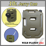 10L Jerry Can Fuel Container Army Green Spare Petrol Container Heavy Duty