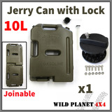10L Jerry Can Joinable Fuel Container With Holder Spare Fuel Container Heavy Duty