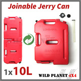 10L Jerry Can Joinable Fuel Container Red Spare Container Heavy Duty