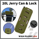 20L Jerry Can Fuel Container With Holder Army Green Spare 4X4 Container Heavy Duty