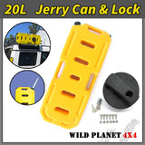 20L Jerry Can Fuel Container With Holder Spare YELLOW 4WD 4X4 Container Heavy Duty