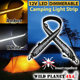 12V LED Dual Colour CAMPING LIGHT 1.3M FLEXIBLE Dimmer 5050 SMD CARAVAN BOAT WATERPROOF BAR STRIP
