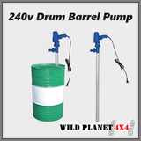 220V Drum Barrel Pump Fuel Transfer Diesel Automatic Oil Kerosene Water