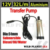 12V Transfer Pump Submersible Aluminium Fuel Diesel Water Electric Oil