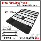 Roof Rack Fits TOYOTA Hilux 05-15 Powder Coated Steel 4wd Luggage Basket Carrier Trade