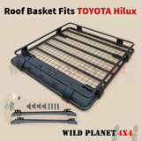 Roof Basket Fits TOYOTA Hilux Powder Coated Steel 4wd Luggage Basket Carrier Cargo