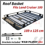 Roof Basket Fits TOYOTA Land Cruiser 100 Series Powder Coated Steel 4wd Luggage Basket Carrier Trade