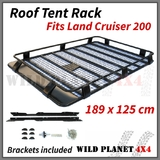 Roof Basket Fits TOYOTA Land Cruiser 200 Series Powder Coated Steel 4wd Luggage Basket Carrier Trade
