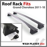 Roof Rack Fits Jeep Grand Cherokee 2011-16 Cross Bar Rail Baggage Luggage Carrier
