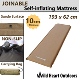 NEW SELF INFLATING MATTRESS 10cm Thick Suede Inflatable Camping Outdoor