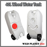 40L Portable Wheel Water Tank Grey Camping Caravan Storage Motorhome Waste Transport Gray