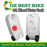 40L Portable Wheel Water Tank Camping Caravan Waste Grey Transport Storage Motorhome