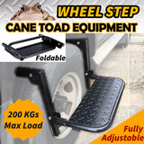 Adjustable Wheel Step Tyre Ladder Lift Stair Foldable Van Truck 4WD 4X4