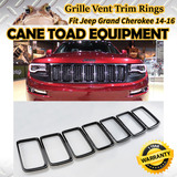 Grille Vent Trim Ring Black Insert Cover For 14-16 Jeep Grand Cherokee