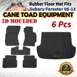 3D Rubber Floor Mats Fits Subaru Forester 08-13 Full Set Heavy Duty All Weather