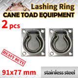 2xLASHING RING Stainless Steel TIE DOWN POINT UTE TRAILER ANCHOR