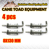 4XSTAINLESS STEEL SPRING BOLT LATCH CATCH TRUCK UTE TAIL GATE TRAILER FLOAT RAILING