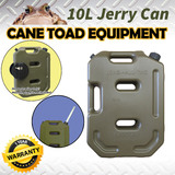 10L Jerry Can Fuel Container Army Green Heavy Duty Spare Petrol Container