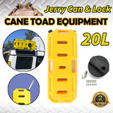 20L Jerry Can Fuel Container Heavy Duty With Holder Yellow Spare Container