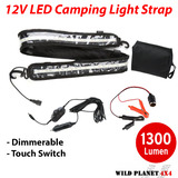 LED CAMPING LIGHT 12V 1.3M FLEXIBLE Dimmer 5050 SMD CARAVAN BOAT WATERPROOF BAR STRIP