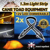 2xLED CAMPING LIGHT STRIP Dual Colour 1.3m 12V FLEXIBLE Dimmer CARAVAN BOAT WATERPROOF BAR STRIP