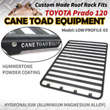 Roof Rack Fits TOYOTA Prado 120 series Aluminium Alloy Flat Low Profile Hydronalium