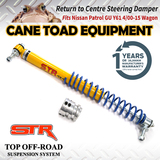 Return to Centre Steering Damper Fits NISSAN Patrol GU Y61 4/00-15 Wagon 4x4 Stabiliser