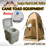 20L Camping Portable Toilet & Shower Tent Shower Bag Change Room Shelter Ensuite