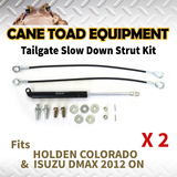 2xTAILGATE STRUT KIT Fits HOLDEN COLORADO ISUZU DMAX 2012 ON REAR GAS SLOW DOWN STRUT DAMPER