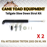 2xTAILGATE STRUT KIT Fits MITSUBISHI TRITON 2005 ON ML MN REAR GAS SLOW DOWN STRUT DAMPER